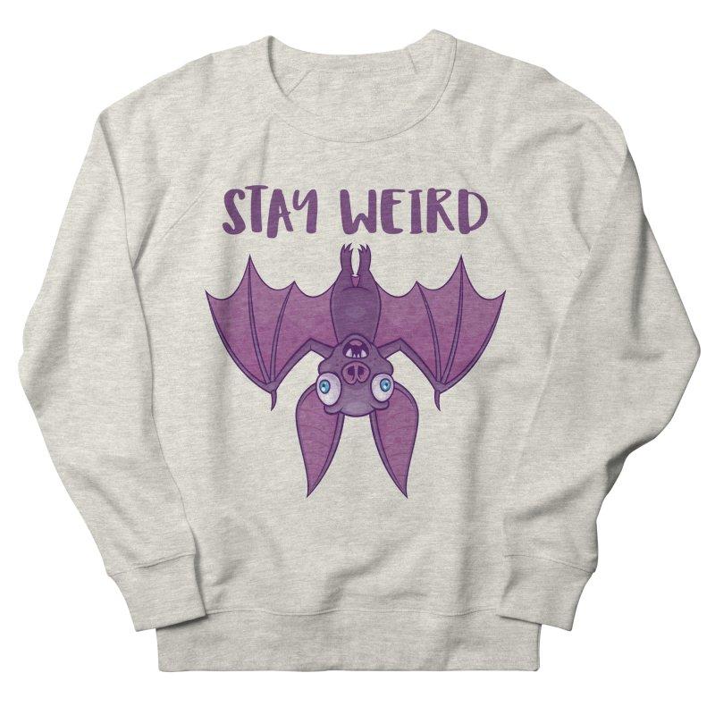 Stay Weird Cartoon Bat Men's French Terry Sweatshirt by Fizzgig's Artist Shop