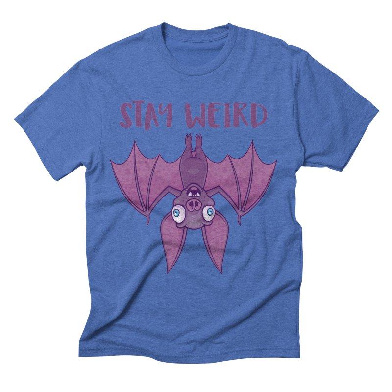 Stay Weird Cartoon Bat Men's Triblend T-Shirt by Fizzgig's Artist Shop