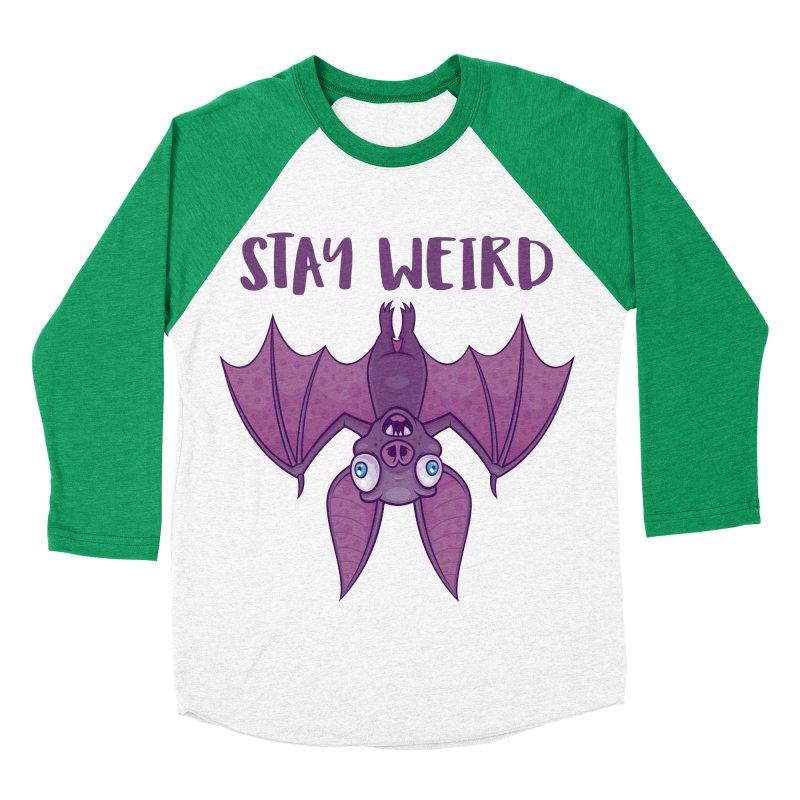 Stay Weird Cartoon Bat Women's Baseball Triblend Longsleeve T-Shirt by Fizzgig's Artist Shop