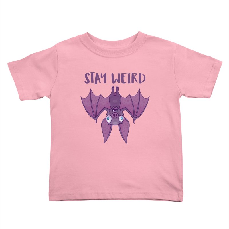 Stay Weird Cartoon Bat Kids Toddler T-Shirt by Fizzgig's Artist Shop