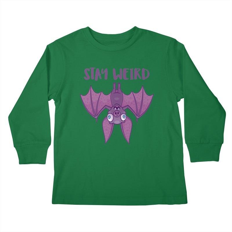 Stay Weird Cartoon Bat Kids Longsleeve T-Shirt by Fizzgig's Artist Shop