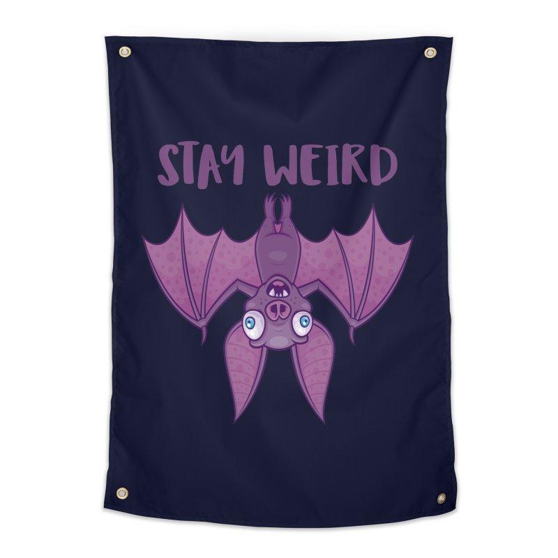 Stay Weird Cartoon Bat Home Tapestry by Fizzgig's Artist Shop