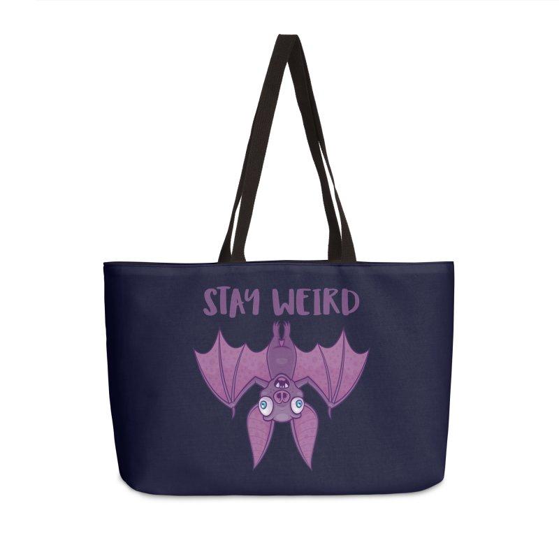 Stay Weird Cartoon Bat Accessories Weekender Bag Bag by Fizzgig's Artist Shop