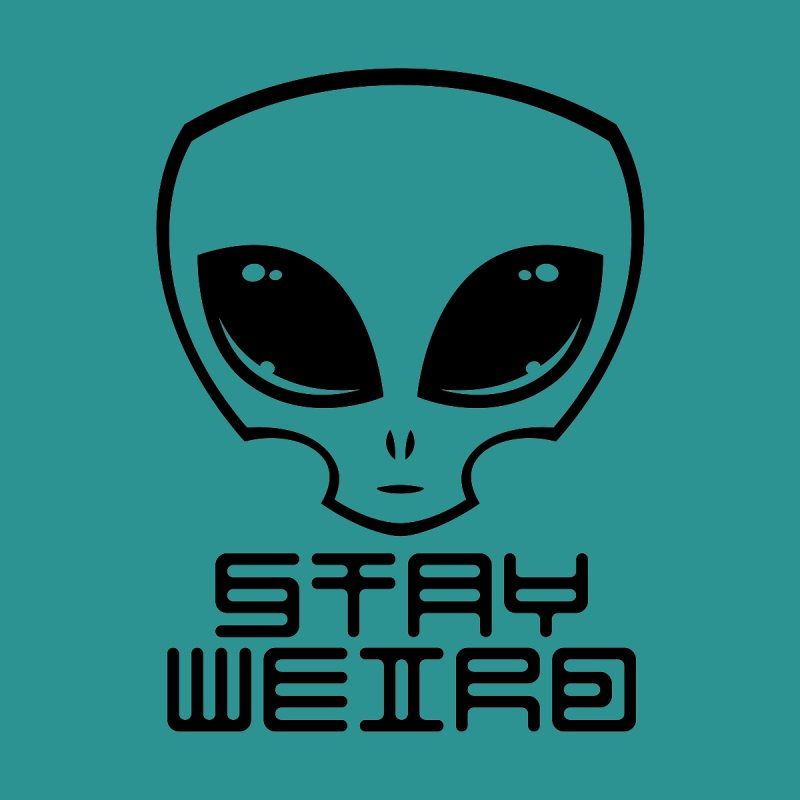 Stay Weird Alien Head Accessories Bag by Fizzgig's Artist Shop