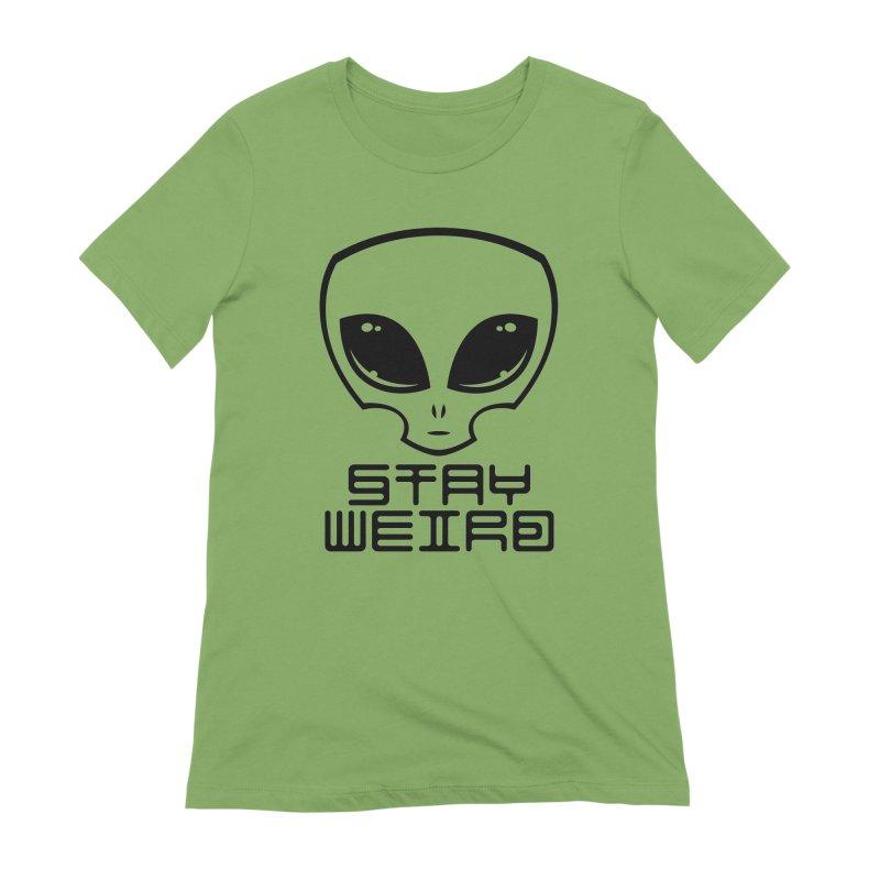 Stay Weird Alien Head Women's Extra Soft T-Shirt by Fizzgig's Artist Shop