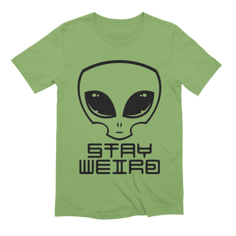 Stay Weird Alien Head Men's Extra Soft T-Shirt by Fizzgig's Artist Shop