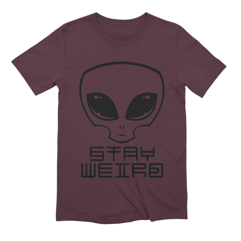 Stay Weird Alien Head Men's Extra Soft T-Shirt by Fizzgig's Artist Shop