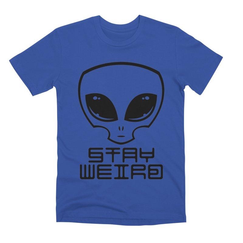 Stay Weird Alien Head Men's Premium T-Shirt by Fizzgig's Artist Shop