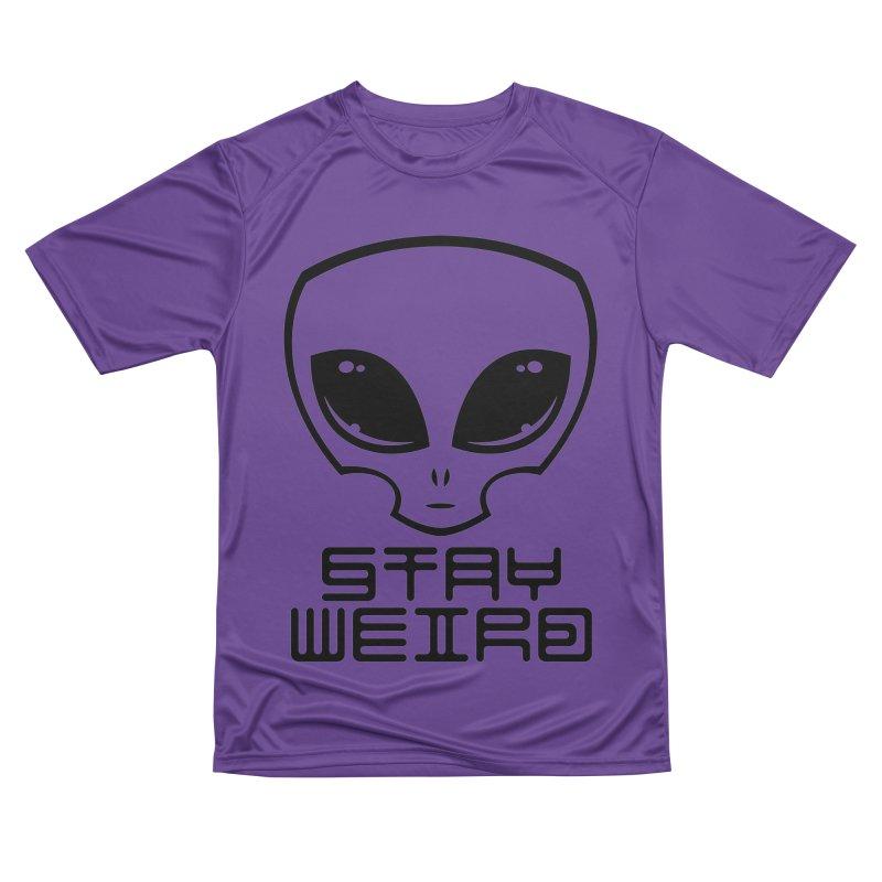 Stay Weird Alien Head Men's Performance T-Shirt by Fizzgig's Artist Shop