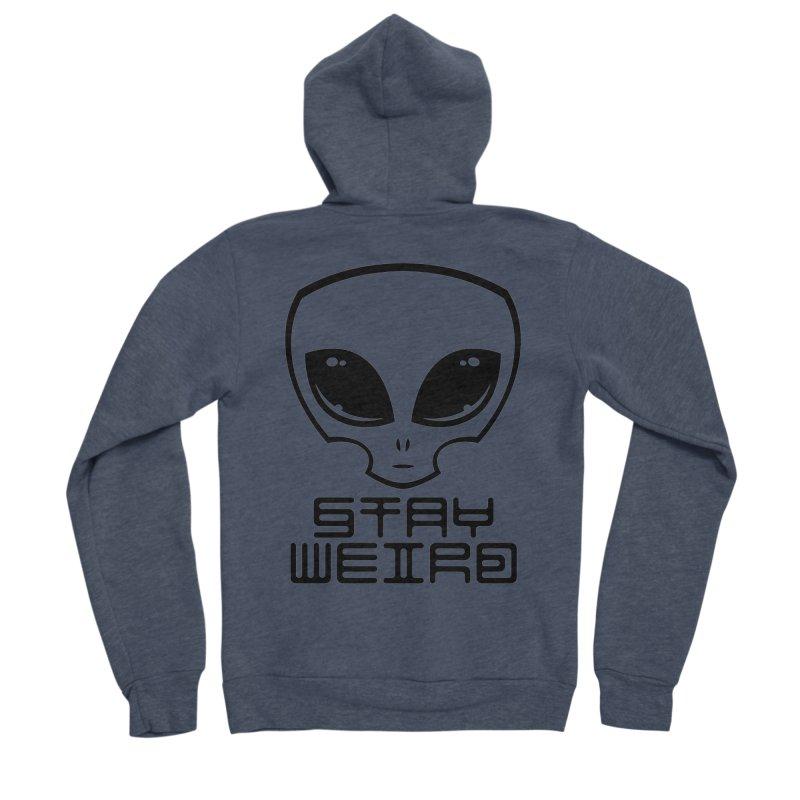 Stay Weird Alien Head Men's Sponge Fleece Zip-Up Hoody by Fizzgig's Artist Shop