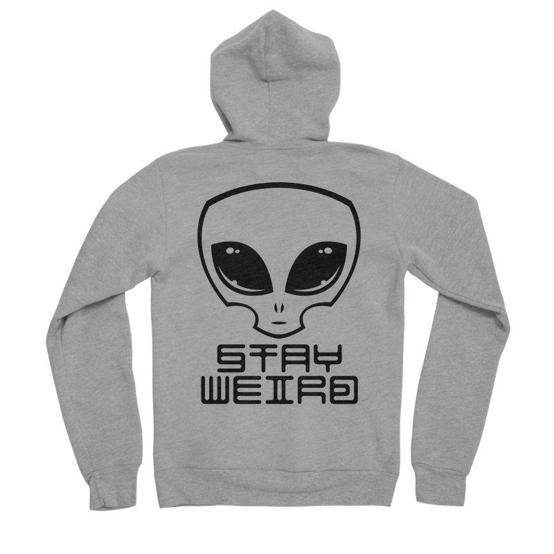 Stay Weird Alien Head Women's Sponge Fleece Zip-Up Hoody by Fizzgig's Artist Shop