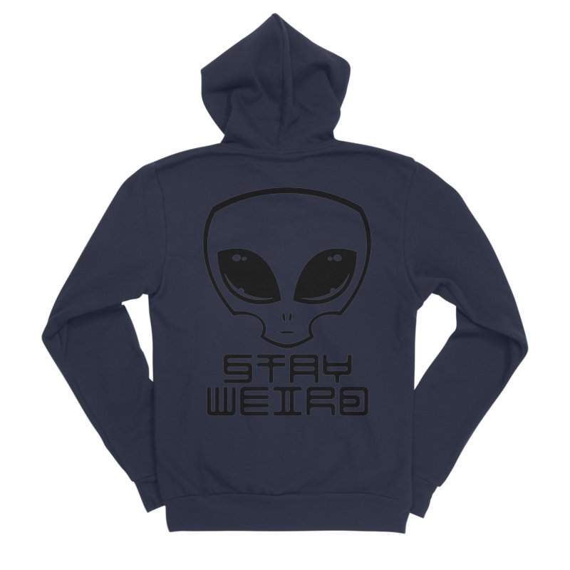 Stay Weird Alien Head Men's Sponge Fleece Zip-Up Hoody by Fizzgig's Artist Shop