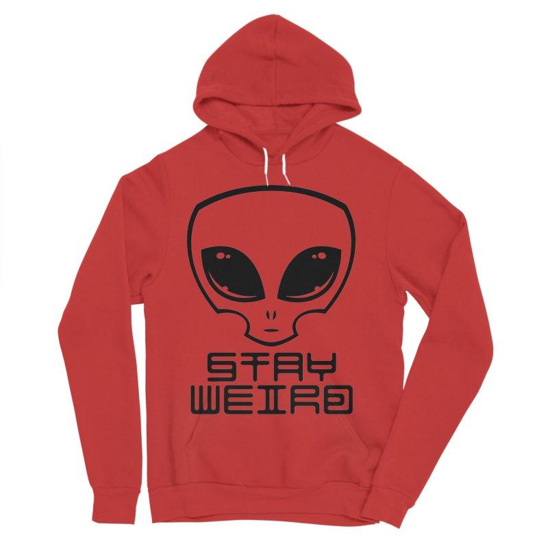 Stay Weird Alien Head Men's Sponge Fleece Pullover Hoody by Fizzgig's Artist Shop