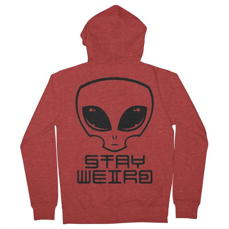 Stay Weird Alien Head Women's French Terry Zip-Up Hoody by Fizzgig's Artist Shop