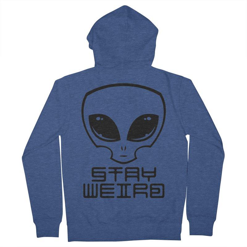 Stay Weird Alien Head Men's French Terry Zip-Up Hoody by Fizzgig's Artist Shop
