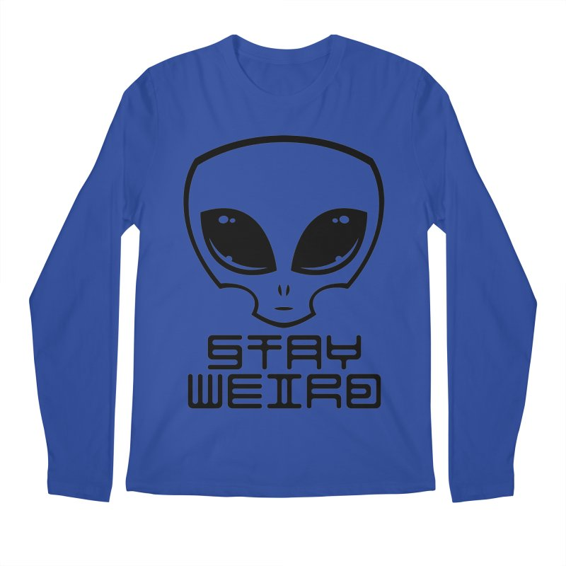 Stay Weird Alien Head Men's Regular Longsleeve T-Shirt by Fizzgig's Artist Shop