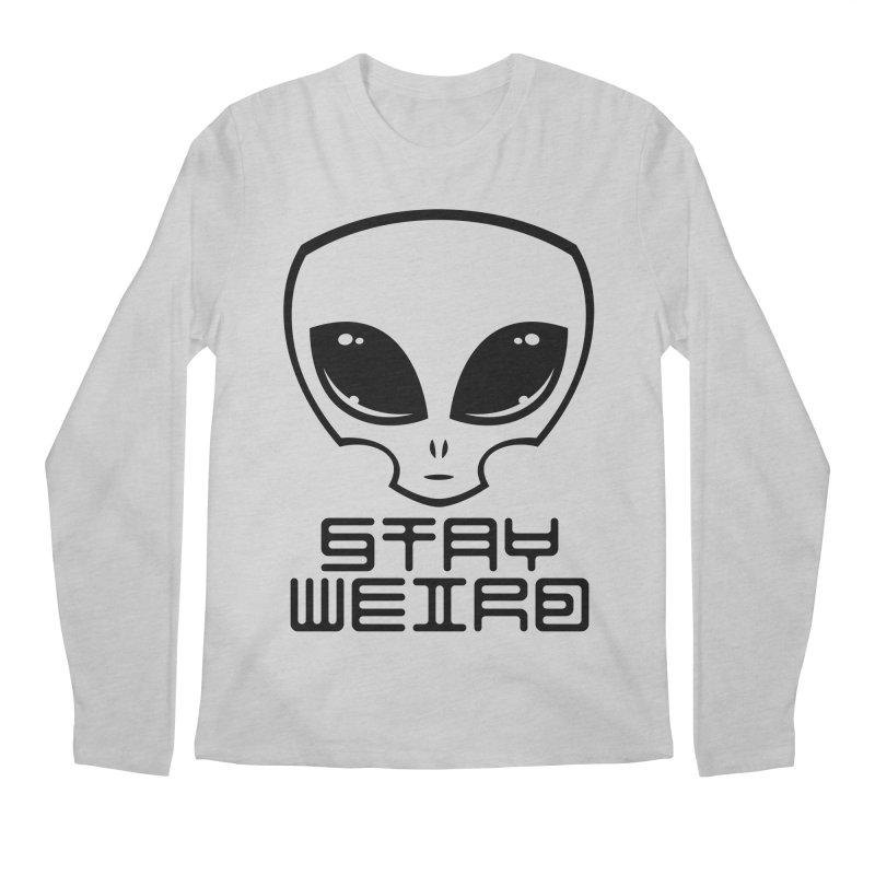 Stay Weird Alien Head Men's Regular Longsleeve T-Shirt by Fizzgig's Artist Shop