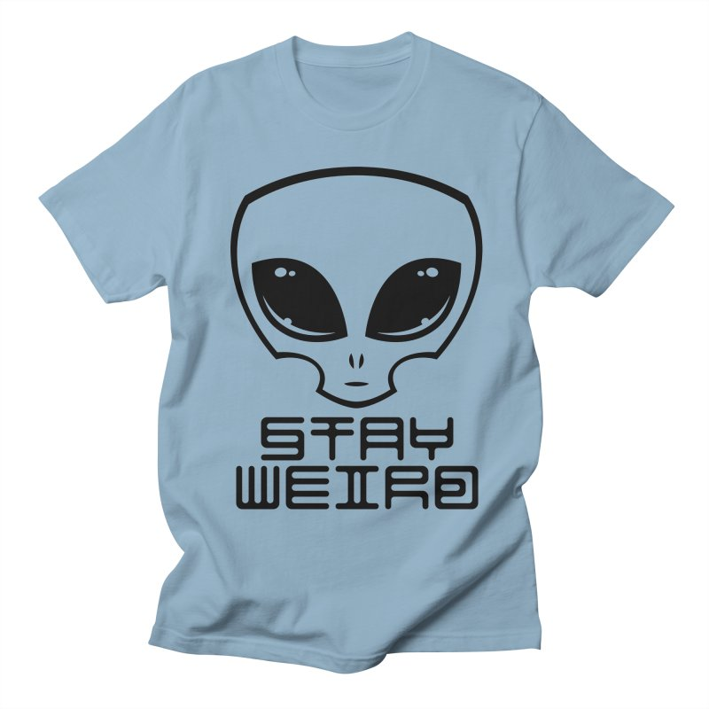 Stay Weird Alien Head Men's Regular T-Shirt by Fizzgig's Artist Shop