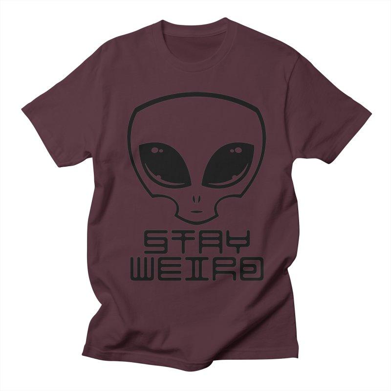 Stay Weird Alien Head Women's Regular Unisex T-Shirt by Fizzgig's Artist Shop