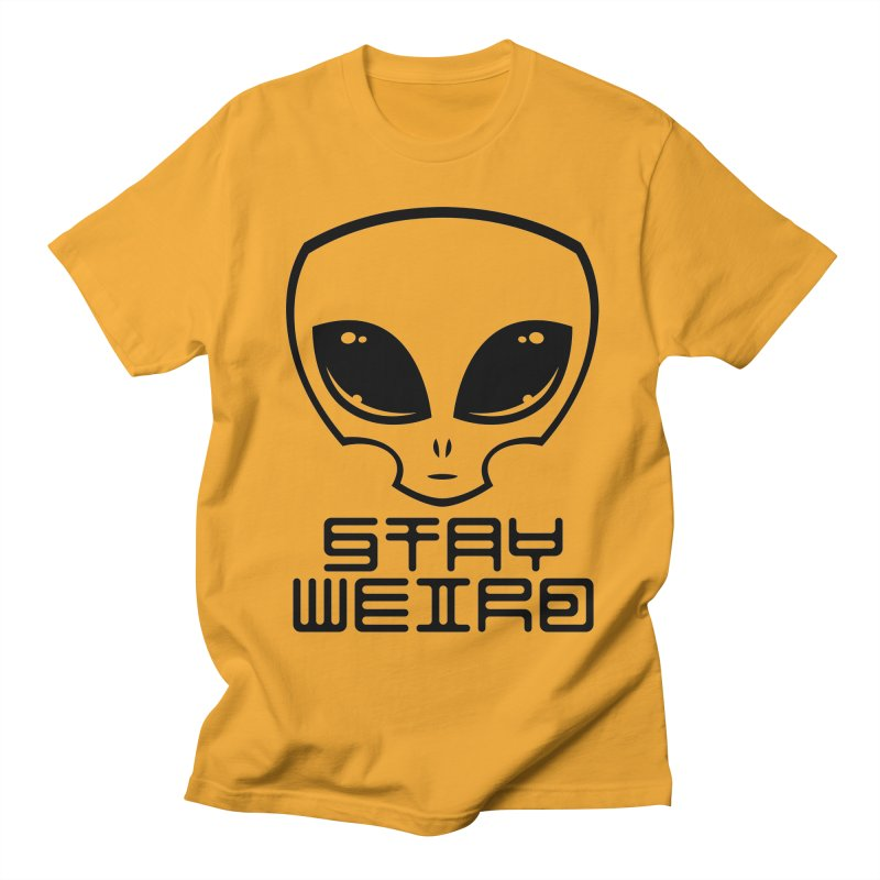 Stay Weird Alien Head Men's Regular T-Shirt by Fizzgig's Artist Shop