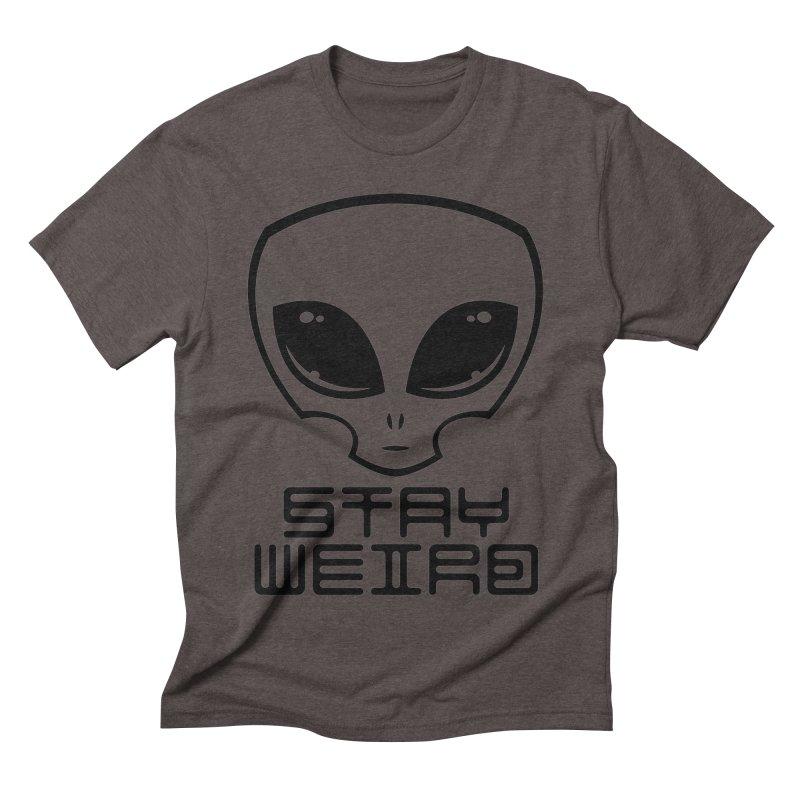 Stay Weird Alien Head Men's Triblend T-Shirt by Fizzgig's Artist Shop