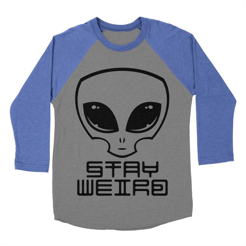 Stay Weird Alien Head Men's Baseball Triblend Longsleeve T-Shirt by Fizzgig's Artist Shop