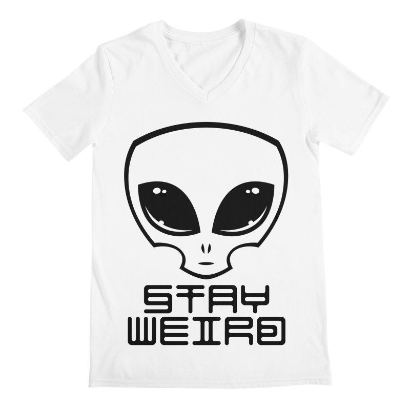 Stay Weird Alien Head Men's Regular V-Neck by Fizzgig's Artist Shop