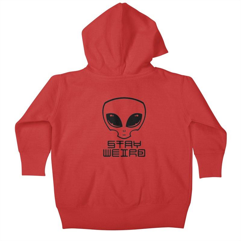 Stay Weird Alien Head Kids Baby Zip-Up Hoody by Fizzgig's Artist Shop