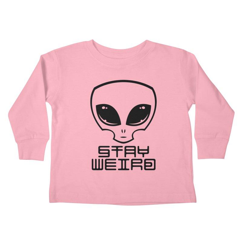 Stay Weird Alien Head Kids Toddler Longsleeve T-Shirt by Fizzgig's Artist Shop