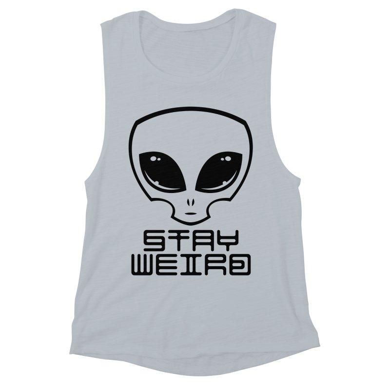 Stay Weird Alien Head Women's Muscle Tank by Fizzgig's Artist Shop