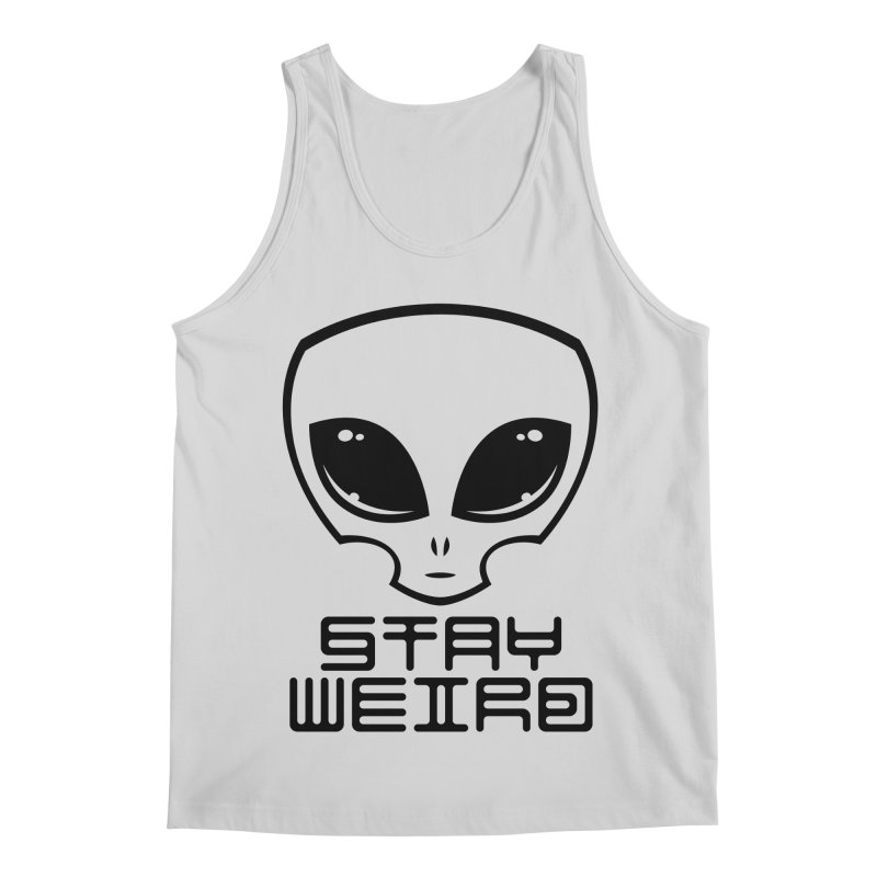 Stay Weird Alien Head Men's Regular Tank by Fizzgig's Artist Shop