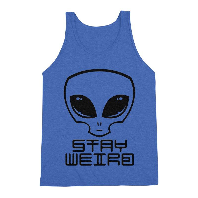 Stay Weird Alien Head Men's Triblend Tank by Fizzgig's Artist Shop