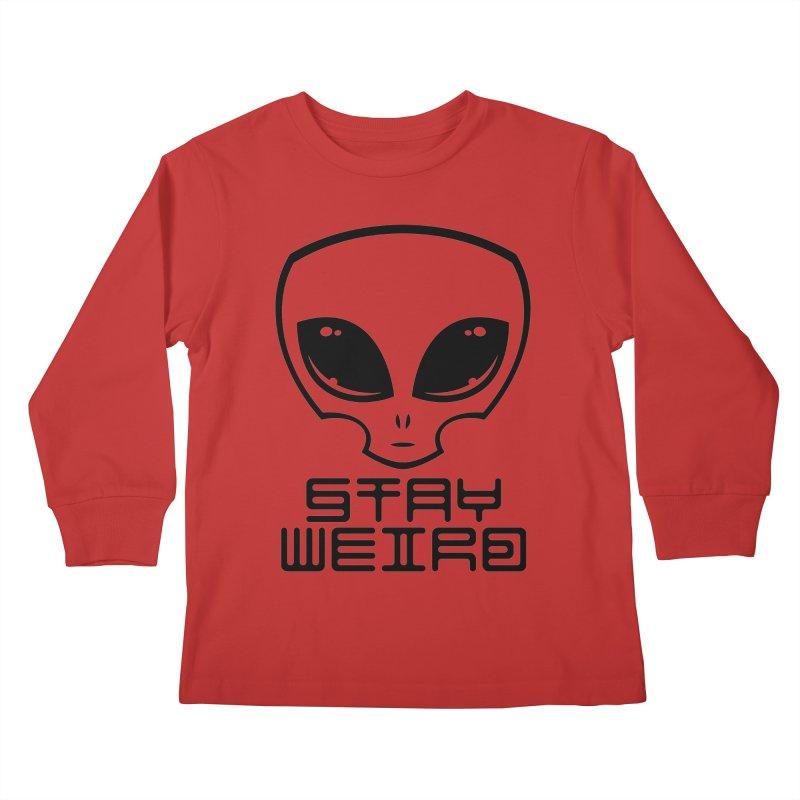 Stay Weird Alien Head Kids Longsleeve T-Shirt by Fizzgig's Artist Shop
