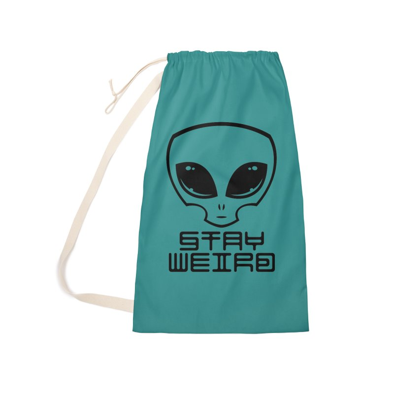 Stay Weird Alien Head Accessories Laundry Bag Bag by Fizzgig's Artist Shop