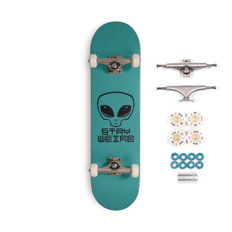 Stay Weird Alien Head Accessories Complete - Premium Skateboard by Fizzgig's Artist Shop