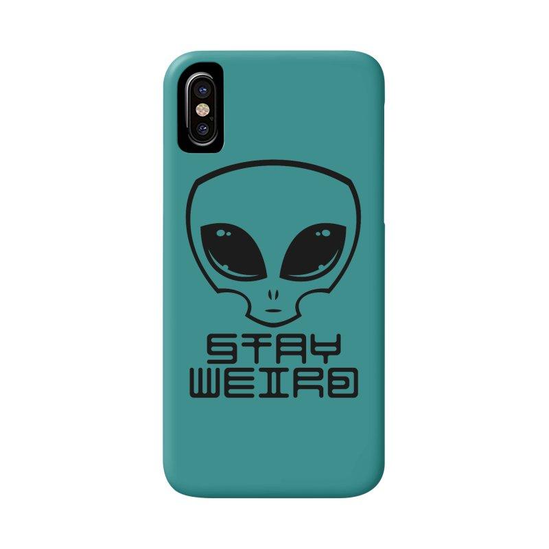 Stay Weird Alien Head Accessories Phone Case by Fizzgig's Artist Shop