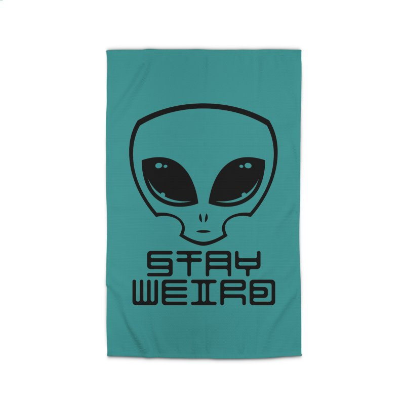 Stay Weird Alien Head Home Rug by Fizzgig's Artist Shop