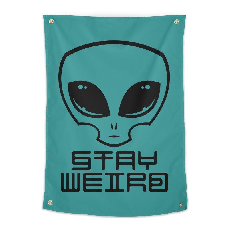 Stay Weird Alien Head Home Tapestry by Fizzgig's Artist Shop