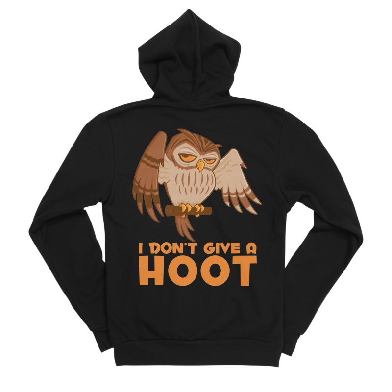 I Don't Give A Hoot Owl Women's Sponge Fleece Zip-Up Hoody by Fizzgig's Artist Shop
