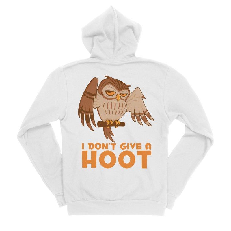 I Don't Give A Hoot Owl Men's Sponge Fleece Zip-Up Hoody by Fizzgig's Artist Shop