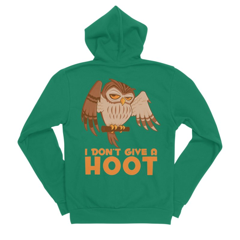 I Don't Give A Hoot Owl Men's Sponge Fleece Zip-Up Hoody by Fizzgig's Artist Shop