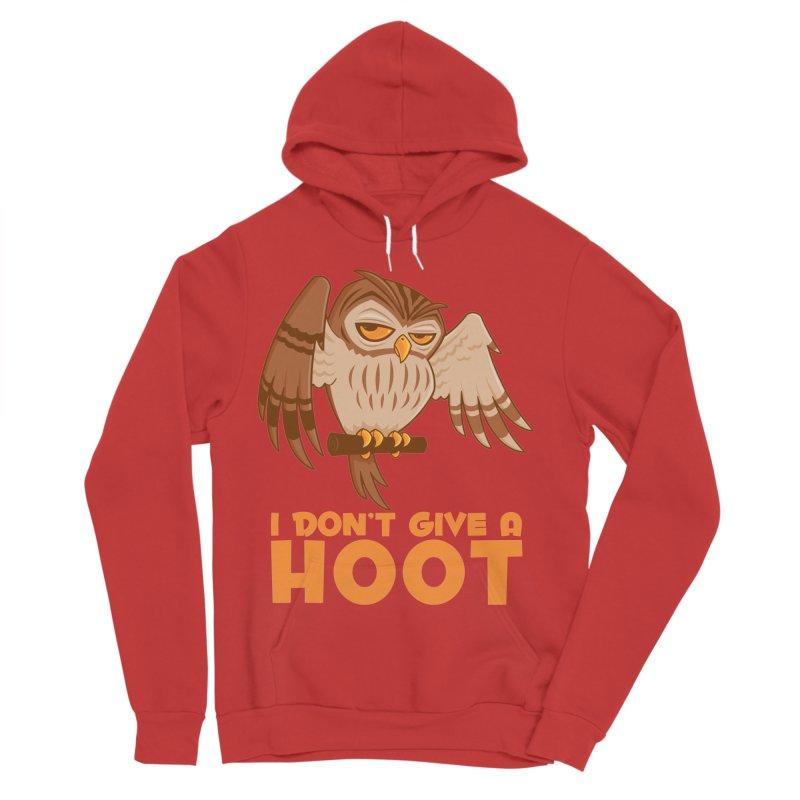 I Don't Give A Hoot Owl Women's Sponge Fleece Pullover Hoody by Fizzgig's Artist Shop