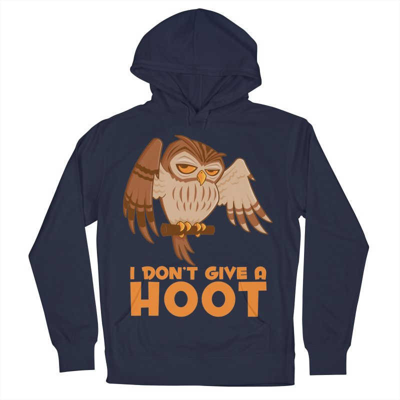 I Don't Give A Hoot Owl Women's French Terry Pullover Hoody by Fizzgig's Artist Shop
