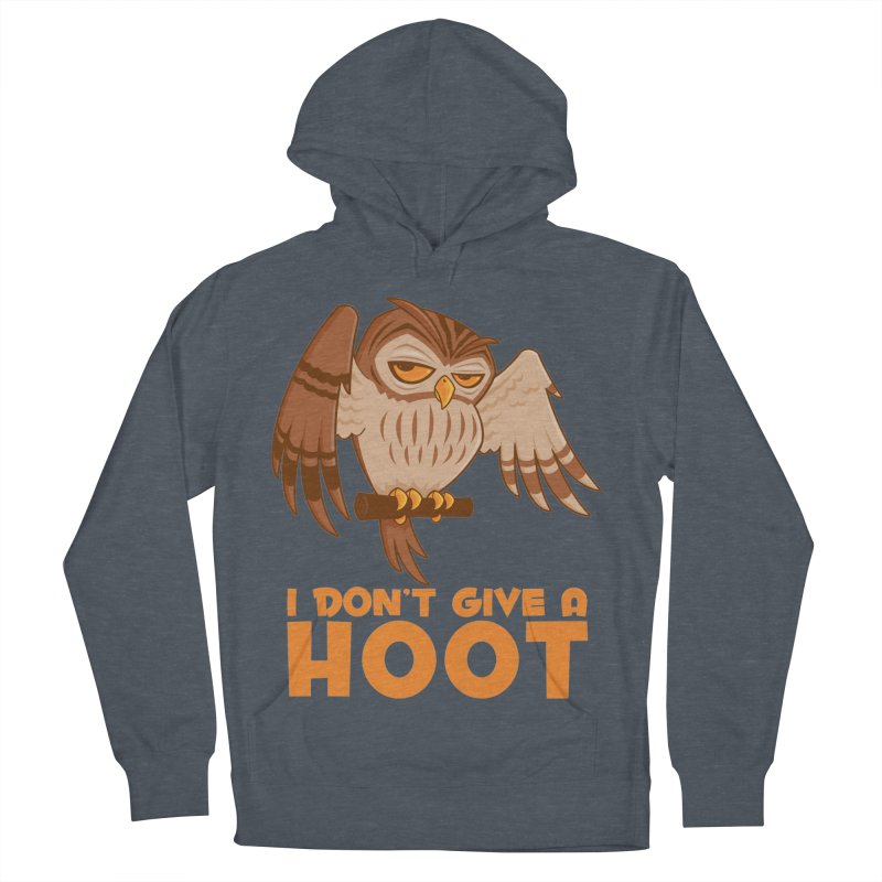 I Don't Give A Hoot Owl Men's French Terry Pullover Hoody by Fizzgig's Artist Shop