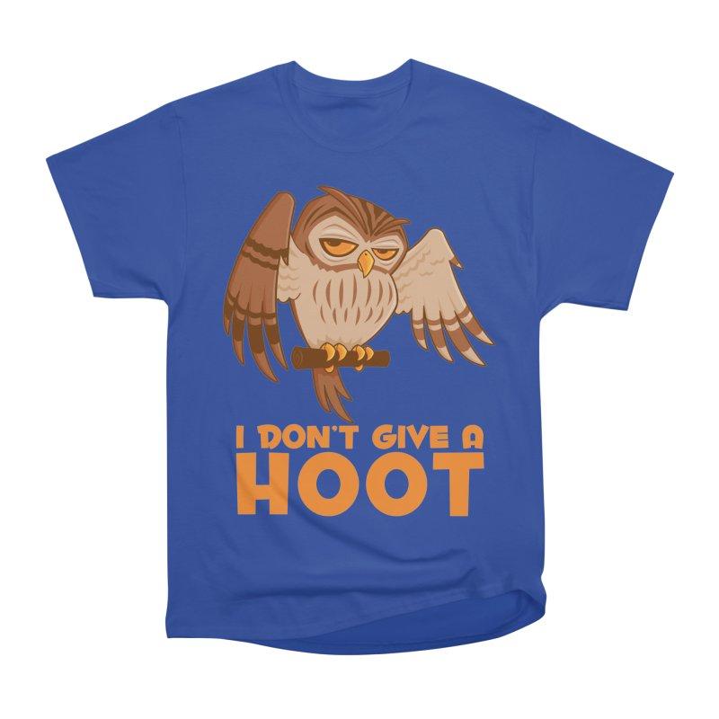 I Don't Give A Hoot Owl Women's Heavyweight Unisex T-Shirt by Fizzgig's Artist Shop
