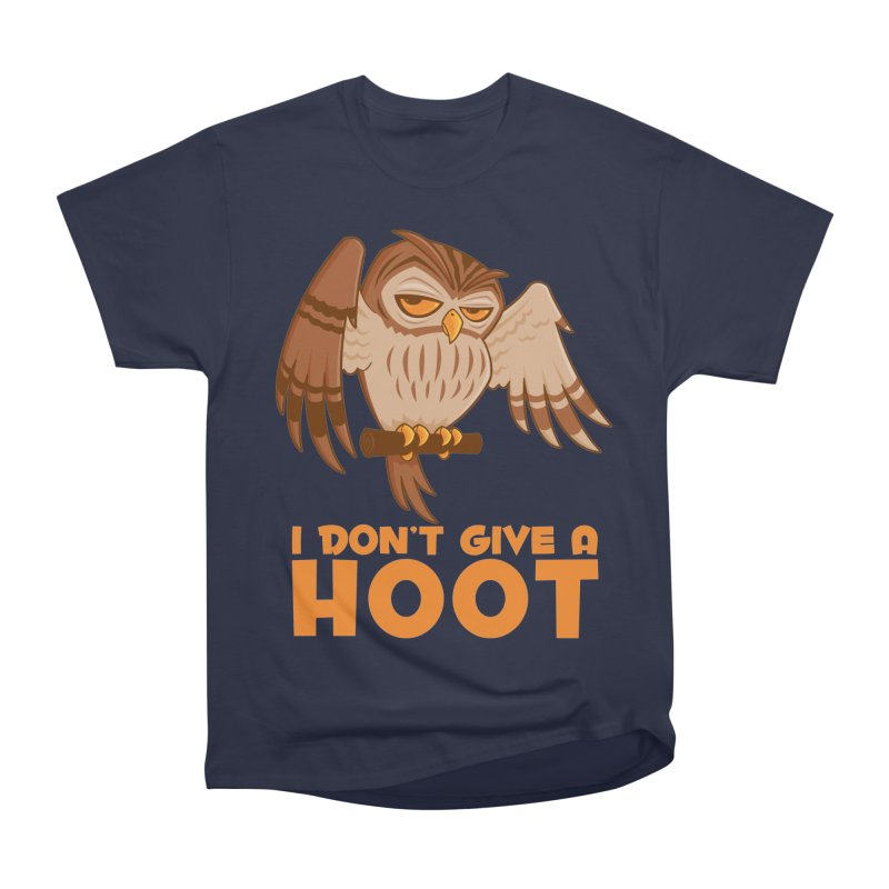 I Don't Give A Hoot Owl Men's Heavyweight T-Shirt by Fizzgig's Artist Shop
