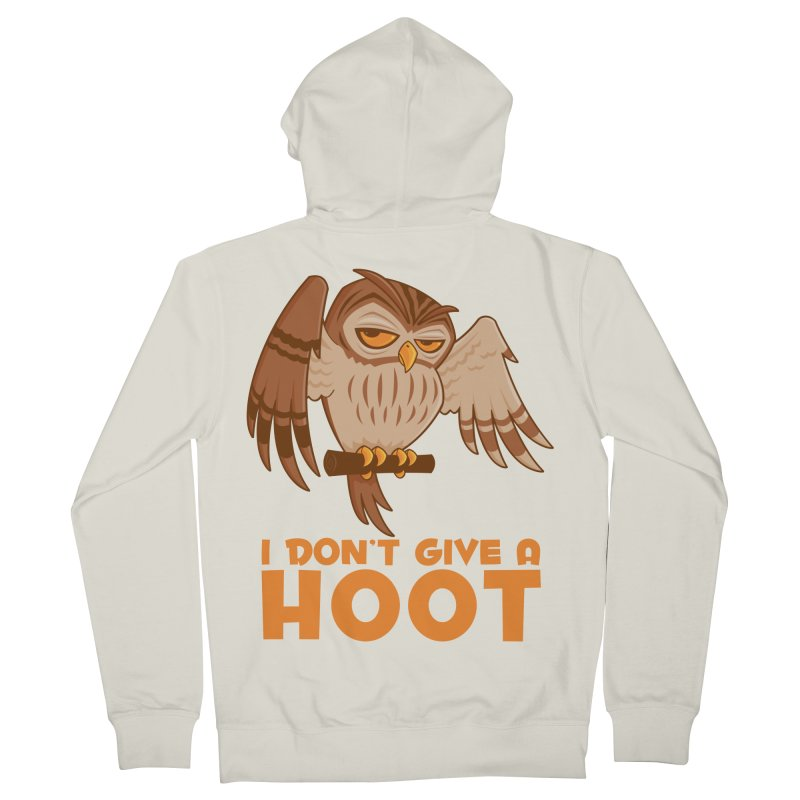 I Don't Give A Hoot Owl Men's French Terry Zip-Up Hoody by Fizzgig's Artist Shop