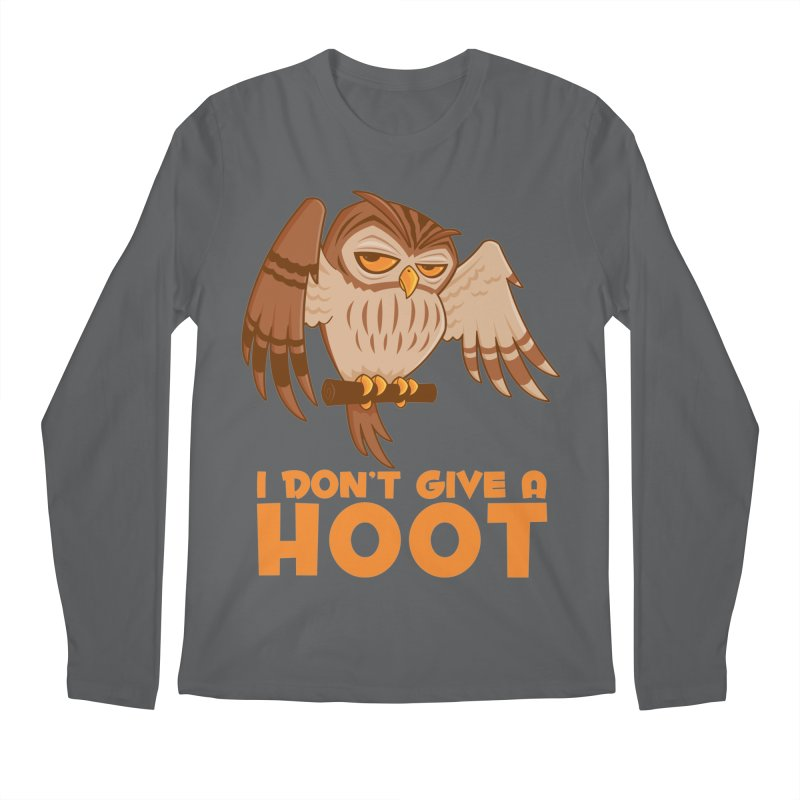 I Don't Give A Hoot Owl Men's Regular Longsleeve T-Shirt by Fizzgig's Artist Shop