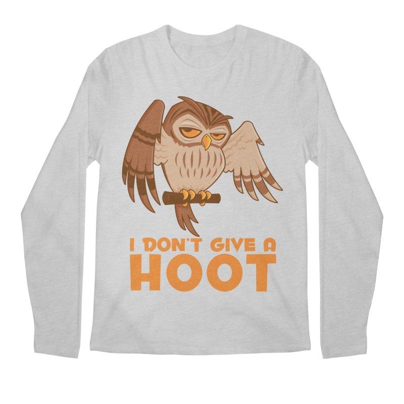 I Don't Give A Hoot Owl Men's Regular Longsleeve T-Shirt by Fizzgig's Artist Shop