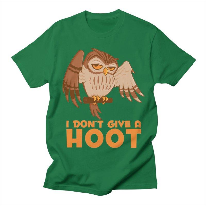 I Don't Give A Hoot Owl Women's Regular Unisex T-Shirt by Fizzgig's Artist Shop
